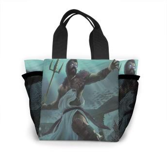 ギリシャ神話海の神ポセイドン水中戦闘 トートバッグ おしゃれ レディース バッグ 買い物バッグ ランチバッグ エコバッグ ハンドバッグ