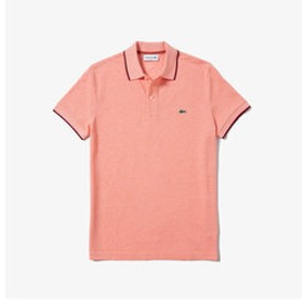 【LACOSTE:トップス】バーズアイリネンコットンポロシャツ