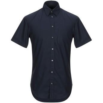 《セール開催中》EMPORIO ARMANI メンズ シャツ ダークブルー 38 コットン 100%
