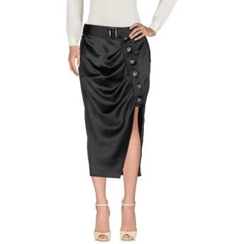 《セール開催中》SELF-PORTRAIT レディース 7分丈スカート ブラック 10 ポリエステル 97% / ポリウレタン 3%