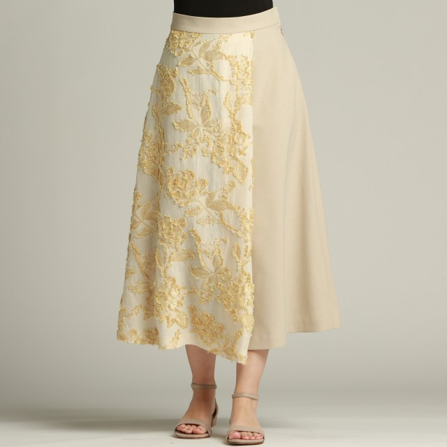 Droite lautreamont(ドローワット ロートレアモン)/フラワーカットジャガードスカート