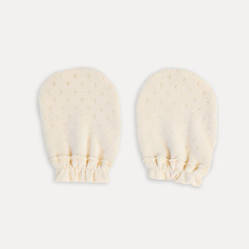 日本製 寶寶手套 有機棉洞洞款