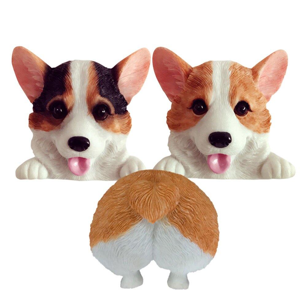開關貼 樹脂開關貼 插座貼 保護套 狗狗開關貼 創意牆貼 卧室 小狗插座裝飾 推薦 禮物 首選 創意柯基犬3D立體