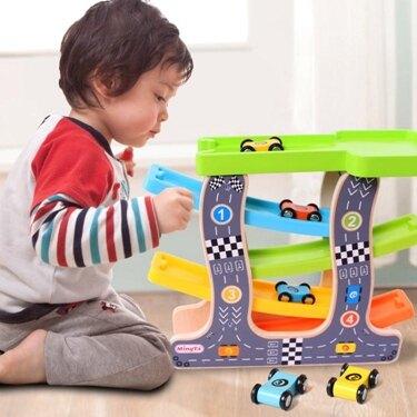 免運 滑翔車123周歲軌道車男孩慣性回力小汽車益智力玩具車 韓國時尚週