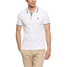 (ジョルダーノ)GIORDANO チビライオン刺繍ポロシャツ GD18SS-01016207 091 ホワイト XXL
