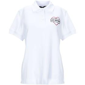 《セール開催中》LOVE MOSCHINO レディース ポロシャツ ホワイト 40 コットン 93% / ポリウレタン 7%
