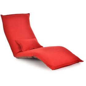 ビーズクッション座布団 クリエイティブ怠惰なソファ、長い折りたたみ式背もたれソファチェア取り外し可能と洗える、レジャーフローティングウィンドウチェア、5ファイル調節可能なフロアソフトチェアはリクライニング180×60センチ 怠zyなソファ HYXFC (Color : Red)