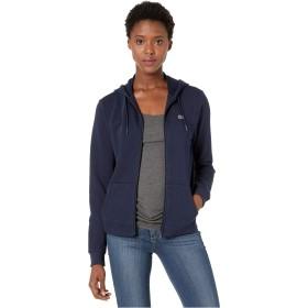 LACOSTE(ラコステ) アウター パーカー・スウェット Long Sleeve Hooded Fleece Pocket Sweatsh Navy Blue/レディース [並行輸入品]
