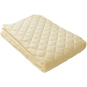 西川 綿ベロア あったか敷きパッド シングル 100×205cm 綿100% PM08002035 ベージュ