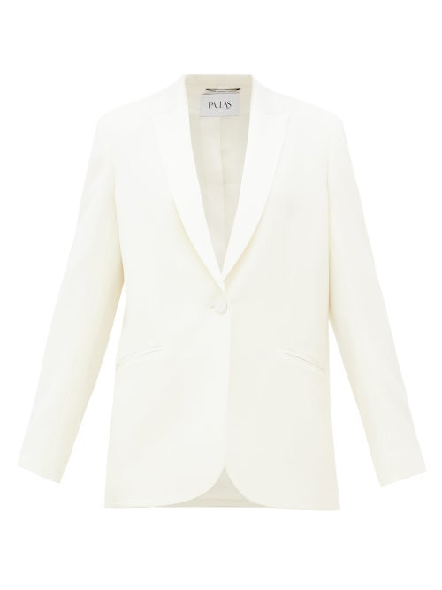 Pallas Paris - Facette Single-breasted Cady Jacket - Womens - White