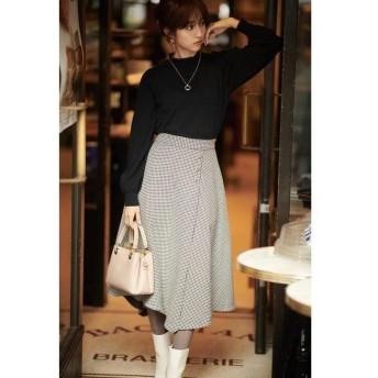 PROPORTION BODY DRESSING / プロポーションボディドレッシング  ◆千鳥チェックアシメフレアースカート