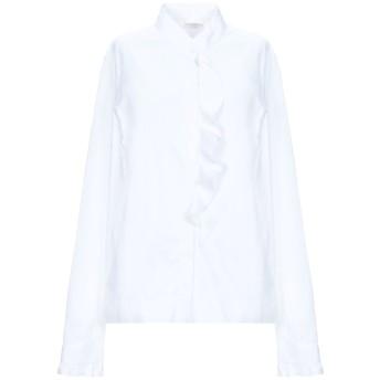 《セール開催中》GUGLIELMINOTTI レディース シャツ ホワイト 46 コットン 70% / ナイロン 27% / ポリウレタン 3%
