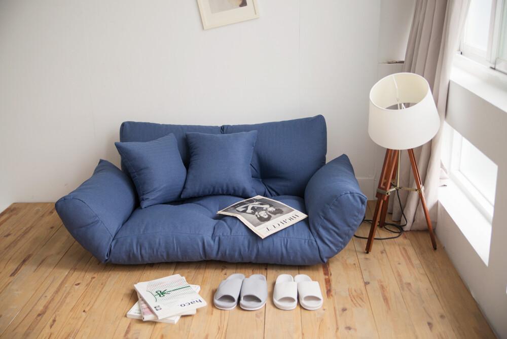 五段式機能扶手沙發/沙發床/坐臥兩用床/和室椅/雙人沙發/m0014