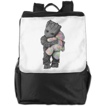 自閉症グルート抱擁テ バックパック リュック 男女兼用 大容量 多機能 リュックサック 旅行 通勤 通学 PC収納 高耐久性