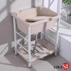 LOGIS  輕巧ABS塑鋼洗衣槽 64CM * 56CM 洗手槽 洗手台 A1006