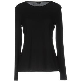 《セール開催中》THEORY レディース T シャツ ブラック XS レーヨン 90% / ポリウレタン 10%