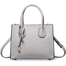 MEIDELE JP 女性レディース本革クロスボディハンドバッグのための財布トートショルダーバッグ (色 : Light gray)