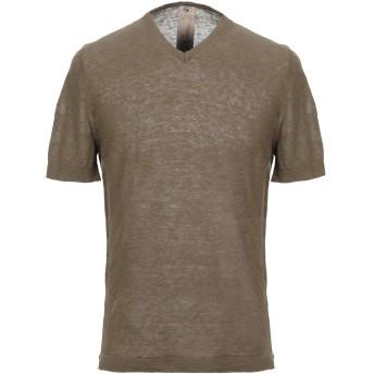 《セール開催中》H953 メンズ T シャツ ミリタリーグリーン 52 リネン 100%