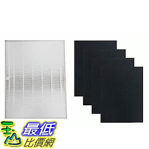 [106美國直購] Think Crucial HF-300 Fellowes HEPA Style Filter & 4 Carbon Filters Fit AP-300PH Air Purifi
