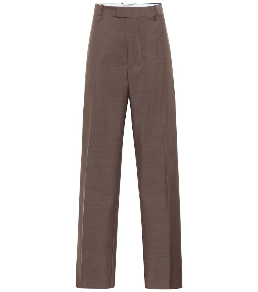 High-rise wool wide-leg pants