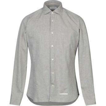 《セール開催中》TINTORIA MATTEI 954 メンズ シャツ ミリタリーグリーン 38 コットン 80% / リネン 20%