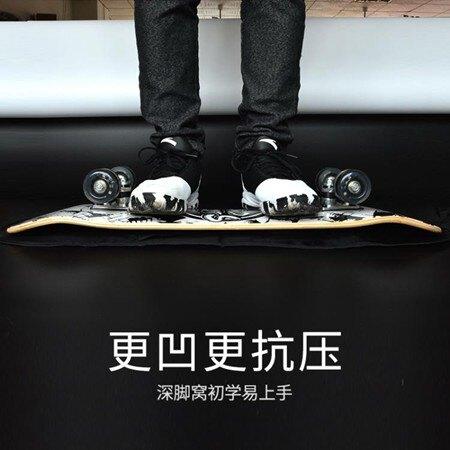 短板滑板 四輪滑板成人男孩女生初學者兒童學生雙翹專業發光短板四輪滑板車 萬事屋  聖誕節禮物