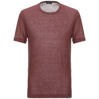 《セール開催中》DRUMOHR メンズ T シャツ ココア XS リネン 100%