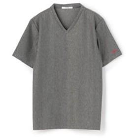 【メンズビギ:トップス】ランダムストライプジャガードTシャツ