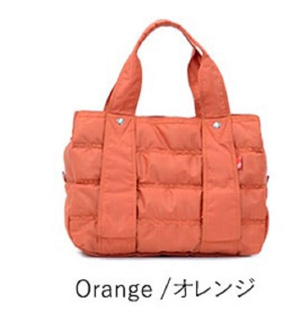 macaronic style輕量托特包m-橘色
