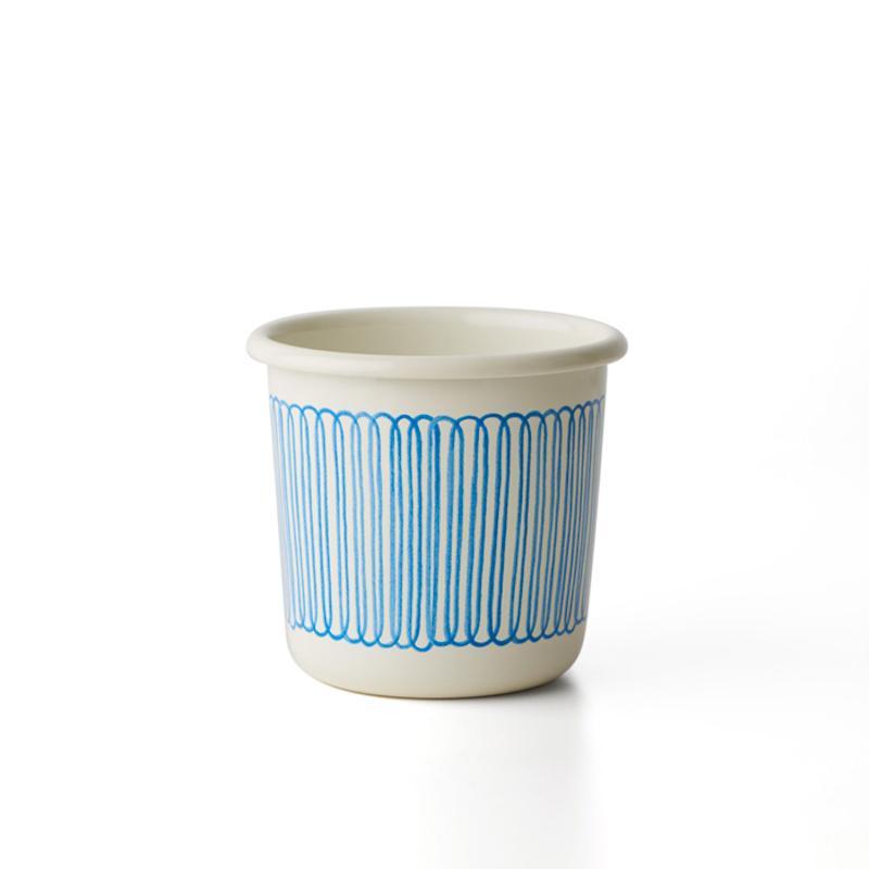 手繪琺瑯杯 - 花瓣直紋