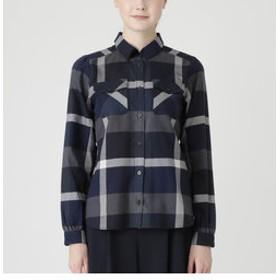 【BLUE LABEL / BLACK LABEL CRESTBRIDGE:トップス】クレストブリッジチェックツイルピーチネルシャツ