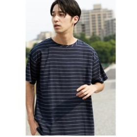 【AZUL by moussy:トップス】【MEN'S】BACK天竺切替TEE