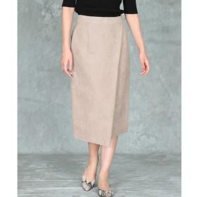 【マルシェ ド クリアインプレッション/MARCHE de CLEAR IMPRESSION】 フェイクスエードラップデザインスカート