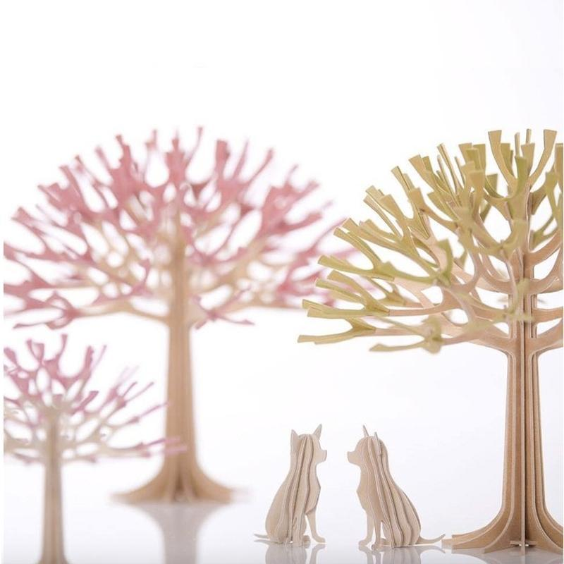 3D立體拼圖樺木明信片 擺飾 禮物 - 掌心小吉/吉娃娃 (6cm) 原木色