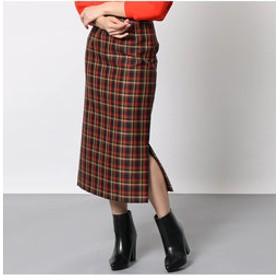 【EUCLAID:スカート】チェックタイトスカート【セットアップ可】