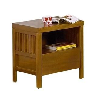 魯娜柚木床頭櫃