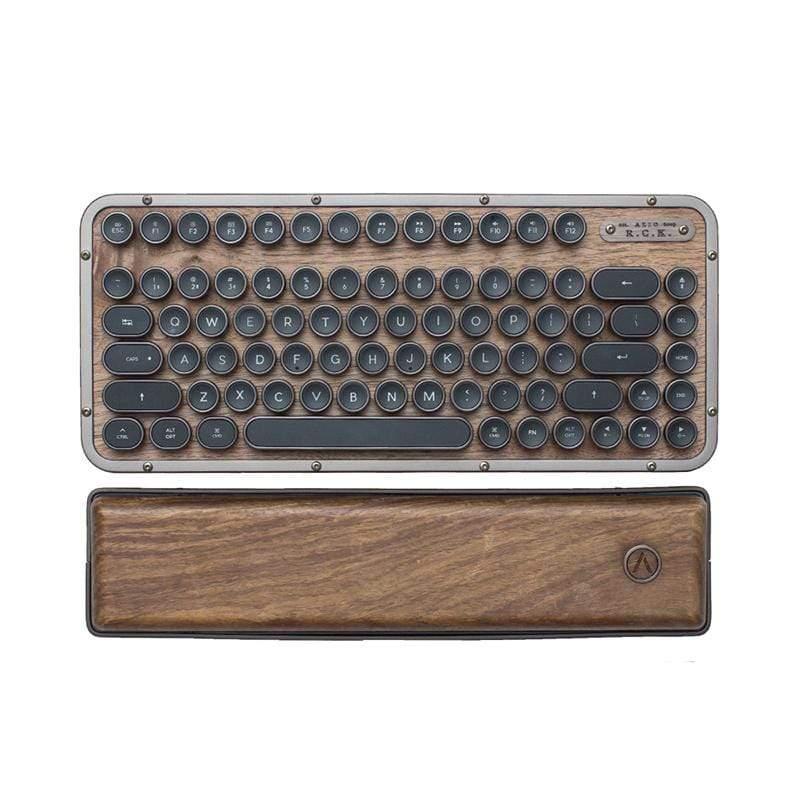 AZIO RETRO R.C.K. ELWOOD 核桃木短版藍牙復古鍵盤 AZIO RETRO R.C.K. ELWOOD 核桃木短版藍牙