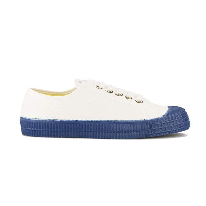 經典鞋帶款 - 白x藍底 36號 = UK 3.5 (鞋內長度23.6公分)