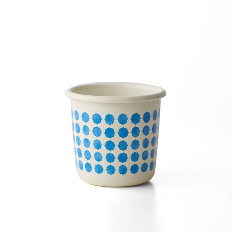 手繪琺瑯杯 - 磚紋