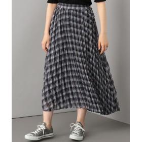 SHARE PARK LADIES(シェアパークレディース)/チェックプリーツロング スカート