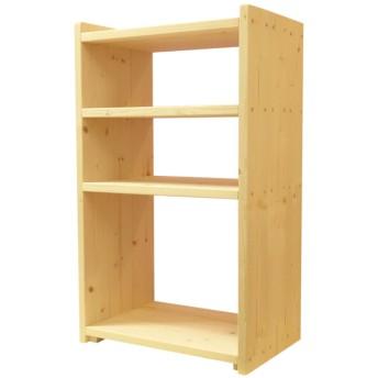 おもちゃ箱 収納棚 3段 木製 ケースなし ハンドメイド 無塗装 ナチュラル 無垢材 おもちゃ収納 収納 ラック