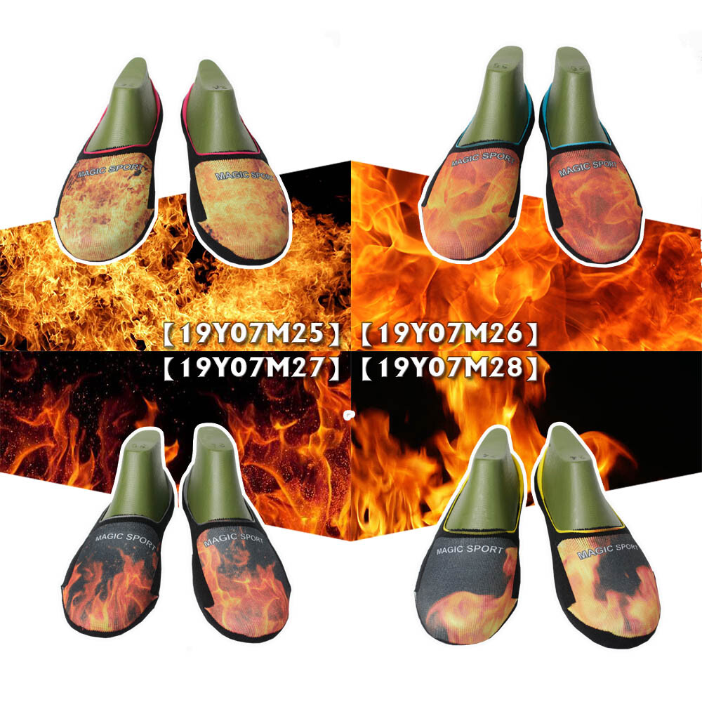 magic美肌刻 火焰 寬口厚底抗菌隱形襪  四入組 jg-01719y07m25-28
