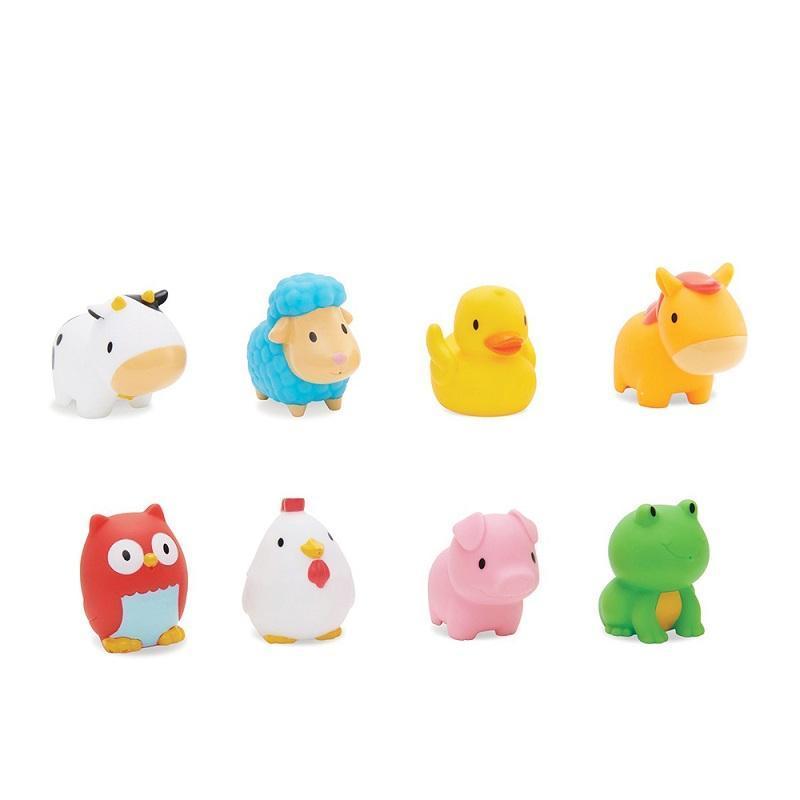 動物農場噴水洗澡玩具8入