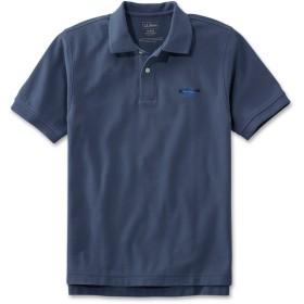プレミアム・ダブル・エル・ポロシャツ、半袖 カタディン・ロゴの刺繍入り/Japan Fit Embroidered Double L Polo Shirt, Short-Sleeve Katahdin Logo