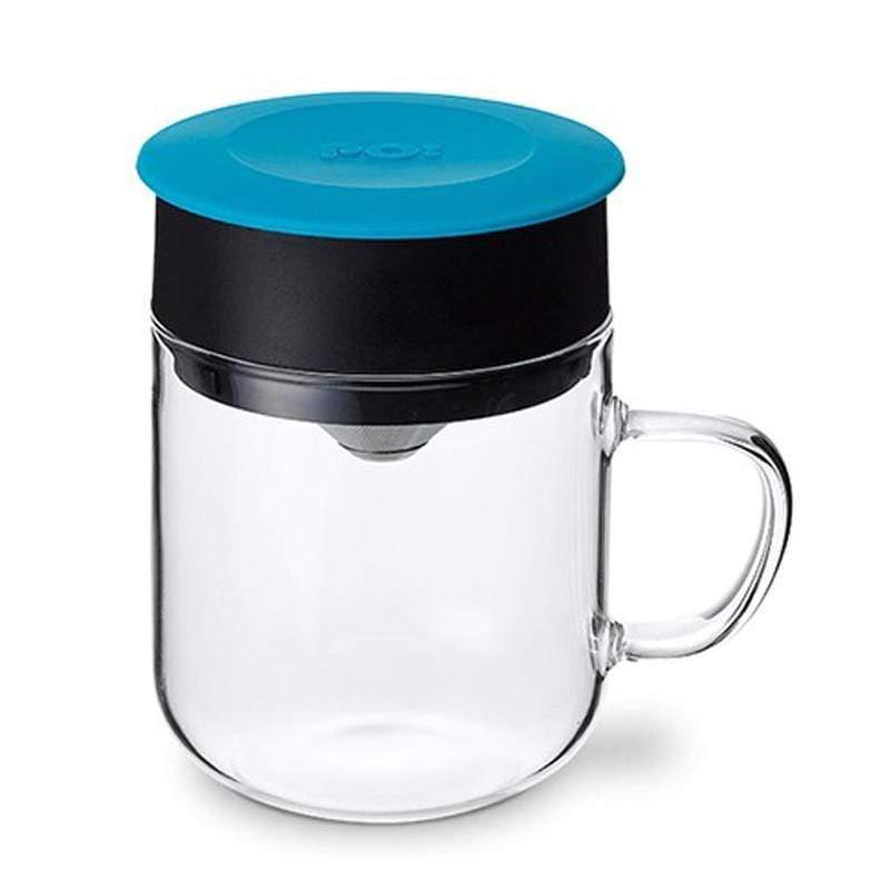 研磨過濾咖啡玻璃杯240ml (藍)
