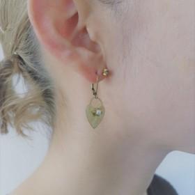 ハートロックイヤリング パール earrings heart lock pearl ER2-1219