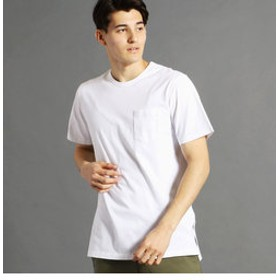 【NICOLE:トップス】ロング丈ポケット付きTシャツ