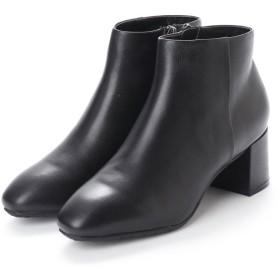 ILIMA 防水 本革6cmヒールショートブーツ IL8018○IL8018 ブラック ブーツ