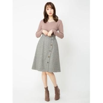 【ビーラディエンス/BE RADIANCE】 2WAYリバーシブルAラインスカート