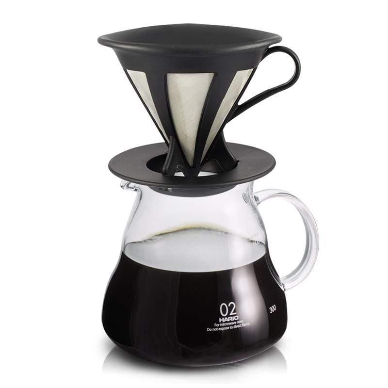 1-4杯不鏽鋼濾網+雲朵咖啡壺600ml CFOD-02B+XGT-60TB